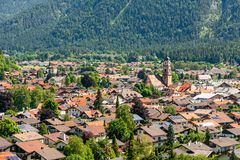 Village of Mittenwald in Bavaria stock photography