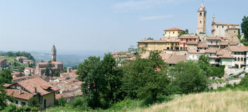 The Village of Monforte d'Alba in Piedmont Royalty Free Stock Photos