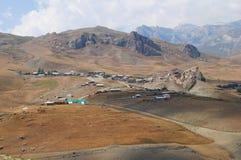 Village montagneux de Cek en Azerbaïdjan images stock