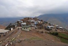 Village montagneux de Xinaliq en Azerbaïdjan image libre de droits