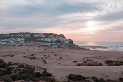 The village Monte Clerigo in Portugal. The village Monte Clerigo on the westcoast in Portugal Royalty Free Stock Images