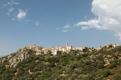 Village of Montemaggiore in the Balagne region of Corsica Stock Photography