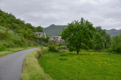 Village in Montenegro. View of the small village from the road in Montenegro Stock Photos