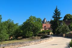 Village Montfort en français Dordogne Image stock