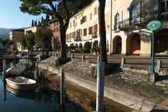 The village of Morcote on lake of Lugano Royalty Free Stock Photography