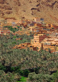 Village among Moroccan hills Stock Photos