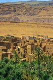 Village among Moroccan hills Stock Images