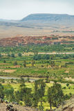 Village among Moroccan hills Stock Photography
