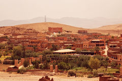 Village in Morroco sun sand Stock Photography
