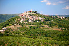 The village of Motovun Stock Images