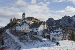 Village on Mount Lussari Stock Photo