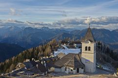 Village on Mount Lussari Stock Image