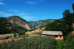 Village and mountain Royalty Free Stock Photos