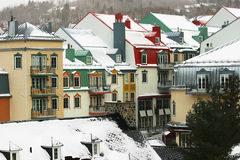 Village in the Mountain. This is a ski resort in Mont-Tremblant, Quebec, Canada Royalty Free Stock Photo