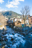 Village on mountain creek Royalty Free Stock Photography