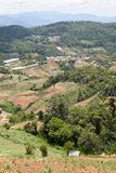 Thai Village in the mountains. Village on the mountain , Doi Masalong, Chiang Rai, Thailand Royalty Free Stock Image