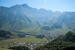 Village in mountain Royalty Free Stock Photography