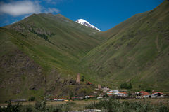 Village in mountain Stock Image