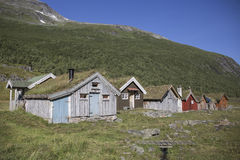Village in the mountain, Herdal's Farm, Norway Royalty Free Stock Photos