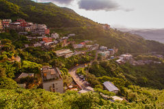 Village in the mountain Stock Images