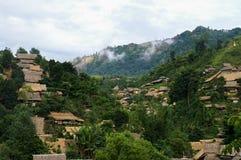 Village on mountain jungle view Royalty Free Stock Photos