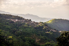 Village on mountain Royalty Free Stock Photography