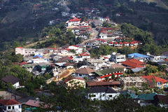 Village on mountain Stock Image