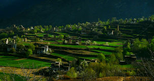Village in a mountainous area Stock Photo
