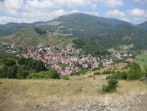 Village in the Mountains Royalty Free Stock Photos