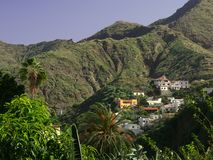 Village in the Mountains. La Gomera, Canary Islands, West Africa Royalty Free Stock Image