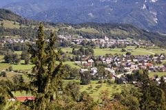 Village in the mountains Stock Photography