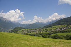 Village mountains Stock Images