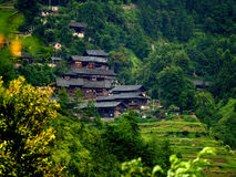 Village on the mountains. The village on the mountains in the Guizhou province of china Stock Photography