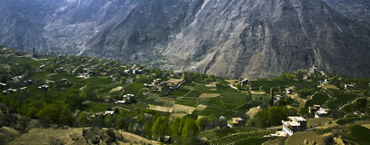 Village in mountains Stock Images