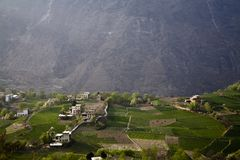 Village in mountains Stock Photography
