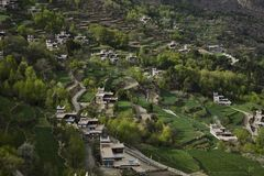 Village in mountains Royalty Free Stock Photo