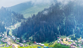 Village in a mountains Royalty Free Stock Image