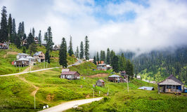 Village in a mountains Stock Photography