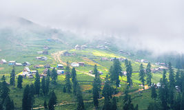 Village in a mountains Royalty Free Stock Images