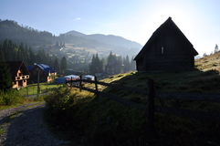 Village in mountains Stock Image