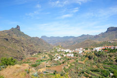 Village on the mountains. Canary Islands Stock Photography