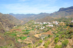 Village on the mountains. Canary Islands Stock Images