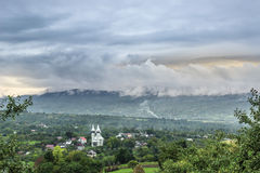 Village and Mountains Royalty Free Stock Photos