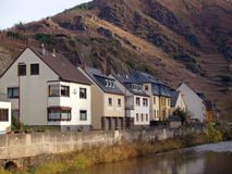 Village in mountains of Germany. Beautiful village in mountains and river of Germany Royalty Free Stock Image