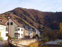 Village in mountains of Germany. Beautiful village in mountains and river of Germany Royalty Free Stock Photography