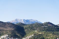 Village in the mountains on the island of Crete. Village in the mountains on the island of Crete in a Sunny day Royalty Free Stock Photography