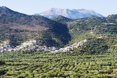Village in the mountains on the island of Crete. Village in the mountains on the island of Crete in a Sunny day Stock Photography