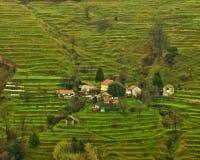 Village on mountains Stock Photos