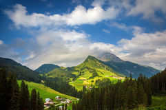 Village in the mountains royalty free stock photo