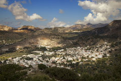 Village in the mountains in Naxos Royalty Free Stock Image